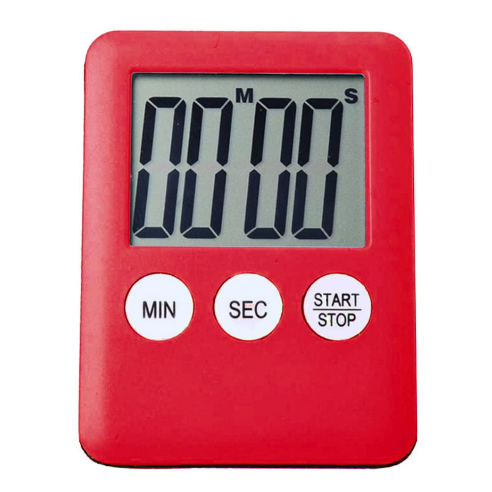 1pcs 6 Colors Super Thin LCD Digital Screen Kitchen Timer Square Cooking Count Up Countdown Alarm Magnet Clock Temporizador(China)
