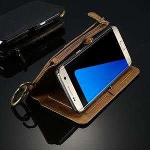 Image 2 - Floveme注3 4 5レトロ財布レザーケース三星銀河S6エッジプラスS7 iphone xs xr最大5s、se 6 6s 7 8プラスカバー