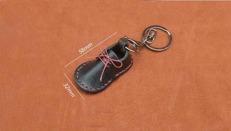2018 New DIY da giày thủ công Keychain mặt dây chuyền mô hình may pvc mẫu
