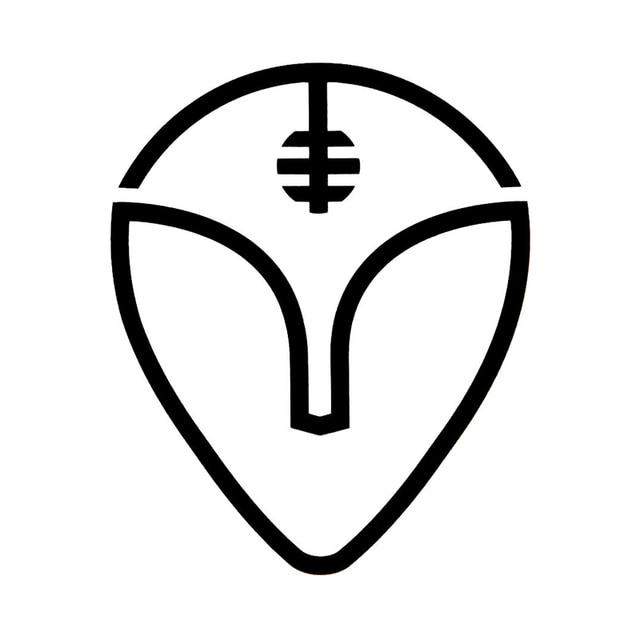 149cm183cm Alien Head Symbol Cartoon Vinyl Decal Car Sticker