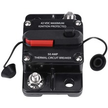Newest DC12V-42V 50A-300A Car Stereo Audio Inline Reset Circuit Breaker Manual
