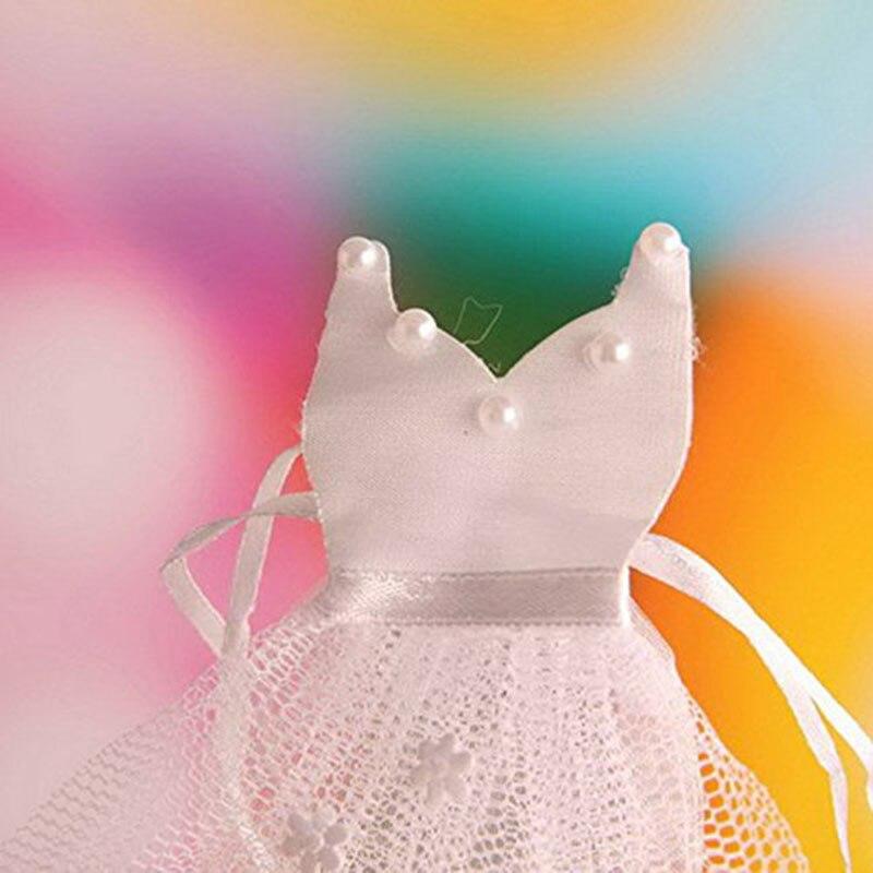 100 Pcs/Lots Organza cordon bonbons sac mariée marié faveurs de mariage fête décoration cadeau sac poche cadeaux de mariage pour les invités - 3