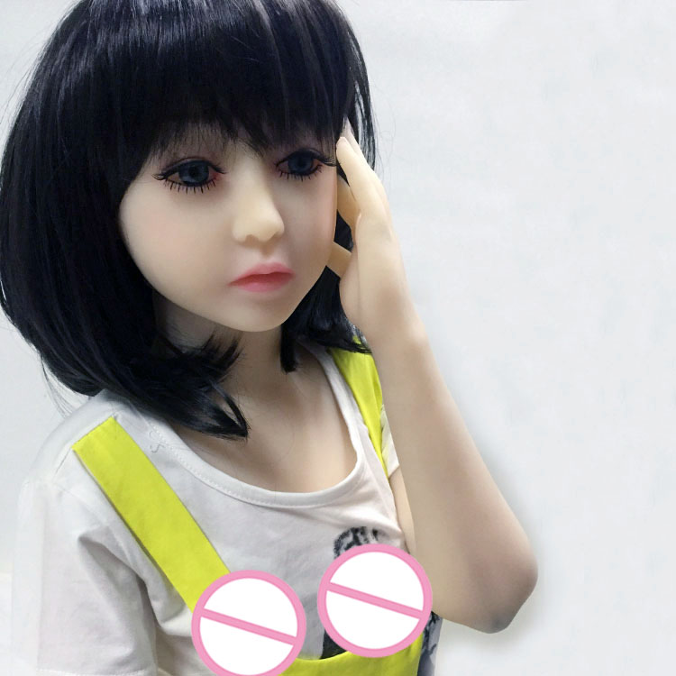 Buy New 128cm Sex Dolls Flat chest Japanese Mini Sex Doll Life Like Silicone Love Doll Sex Toy Men