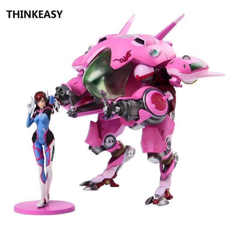 THINKEASY 22cm Game Character D.VA with Meka 8.5 Buddy Vinyl Toy Figure