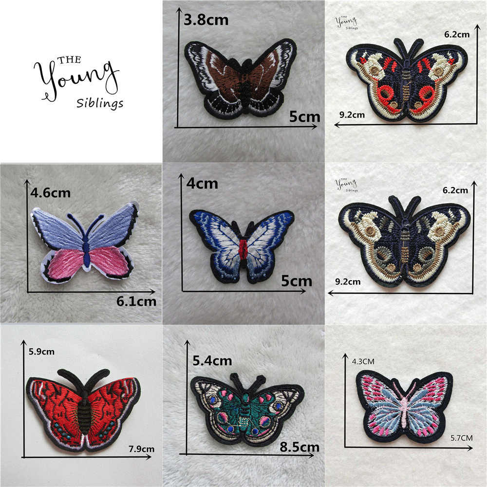 Hot sale Butterfly of various colors Embroidery iron on patches insect patch Stripes for jeans Scrapbooking Clothing Accessories