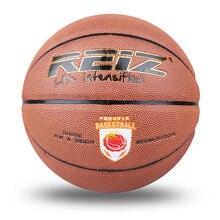 Reiz 949 Outdoor Basketball PU Leather Basketball 7# Non-slip Basketball Wear-resistant Basketball With Free Gift Net Needle