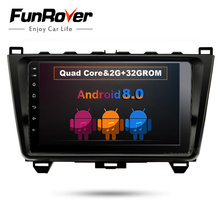 Funrover 9″ 2 din car dvd player multimedia for MAZDA 6 2008-2015 mazda6 android 8.0 gps stereo headunit radio dvr obd2 wifi rds