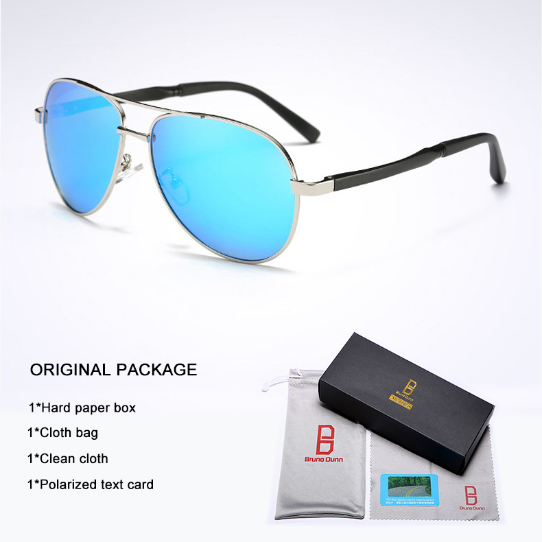 Bruno Dunn 2020 Aviation Men Sunglasses Polarized Sun Glases oculos de sol masculino aviador UV400 high quality  Sunglases 14