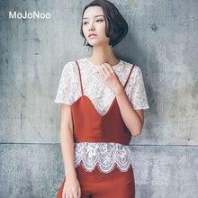 MOJONOO Summer Sexy White Lace Hollow Blouse Shirt Women Tops Elegant Luxury Designer Blouses Brand blusas mujer de moda 2017