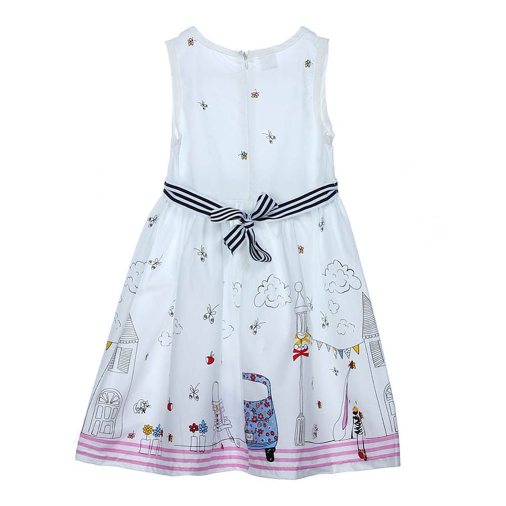 Summer Girls Dress Children Dress Princess Costume Robe Enfant Fille Flower Kids Clothes Girls Party Dress 2017  girls party dresses silk chiffon 2017 brand toddler dress princess costume for kids clothes flower robe enfant children dress