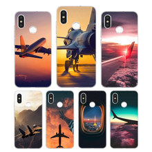 Silicone Phone Case aircraft airplane Fashion Printing for Xiaomi Mi 6 8 9 SE A1 5X A2 6X Mix 3 Play F1 Pro Lite Cover