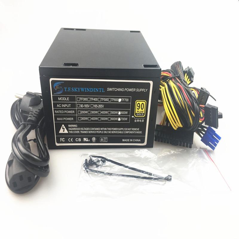 600W Quiet 120mm Fan 600 ATX 12V PSU PC Power Supply Modular SLI Illuminated Fan for