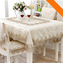 European Jacquard Table Cloth Classical Rectangle Tablecloths For Events Chair Covers Lace Table Microwave Oven Cover Nappe Noel