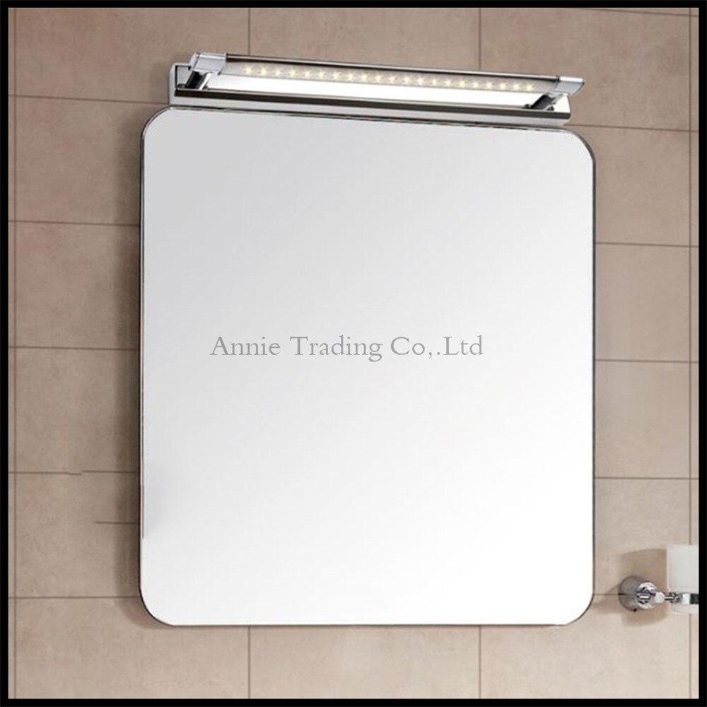 ФОТО 90V - 265V L62cm 7W led mirror lights lamp  Mirror cabinet lights SMDLED waterproof bathroom makeup dressing table bed side lamp