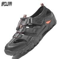 New Classic Summer Men's Sandals Outdoor Casual Shoes Sandals Genuine Leather Men Casual Shoes Flip Flops Men Slippers Sneakers