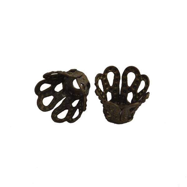 LNRRABC 10X7 mm 100 pcs/lot Gold Silver Bronze Brown Color Flower Beads Caps Free Shipping