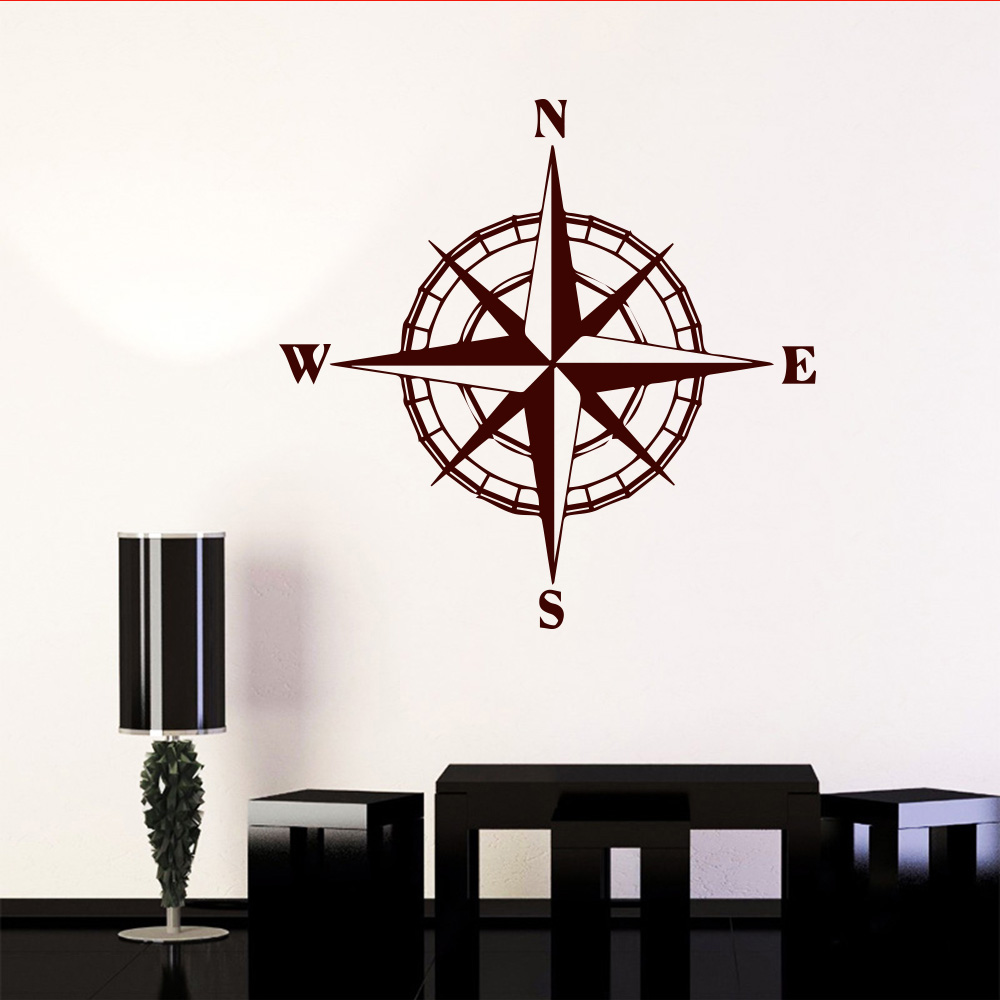 Art mondo Compass Sticker For automobile decoration For Bedroom Decoration accessories Stickers world map compass wall decals sticker