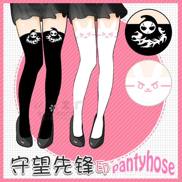 fa8b778b1 2017 kawaii Tight Pantyhose OW Over And Watch Death D.va Cute Tight 2  Colors Spandex Tight Cosplay Tight