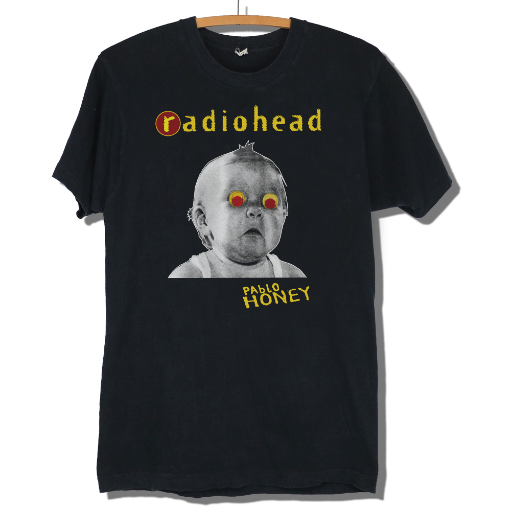 Radiohead Pablo Honey T shirt Repro Vintage Unisex Fashion T Shirt Top Tee New Short Sleeve Round Collar Fashion Style in T Shirts from Men 39 s Clothing