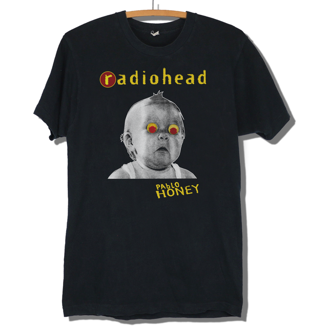 0fa9cfb3d Radiohead Pablo Honey T-shirt Repro Vintage Unisex Fashion T Shirt Top Tee  New Short Sleeve Round Collar Fashion Style