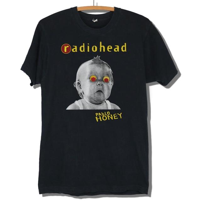 5f1cb017f89 Radiohead Pablo Honey T-shirt Repro Vintage Unisex Fashion T Shirt Top Tee  New Short Sleeve Round Collar Fashion Style
