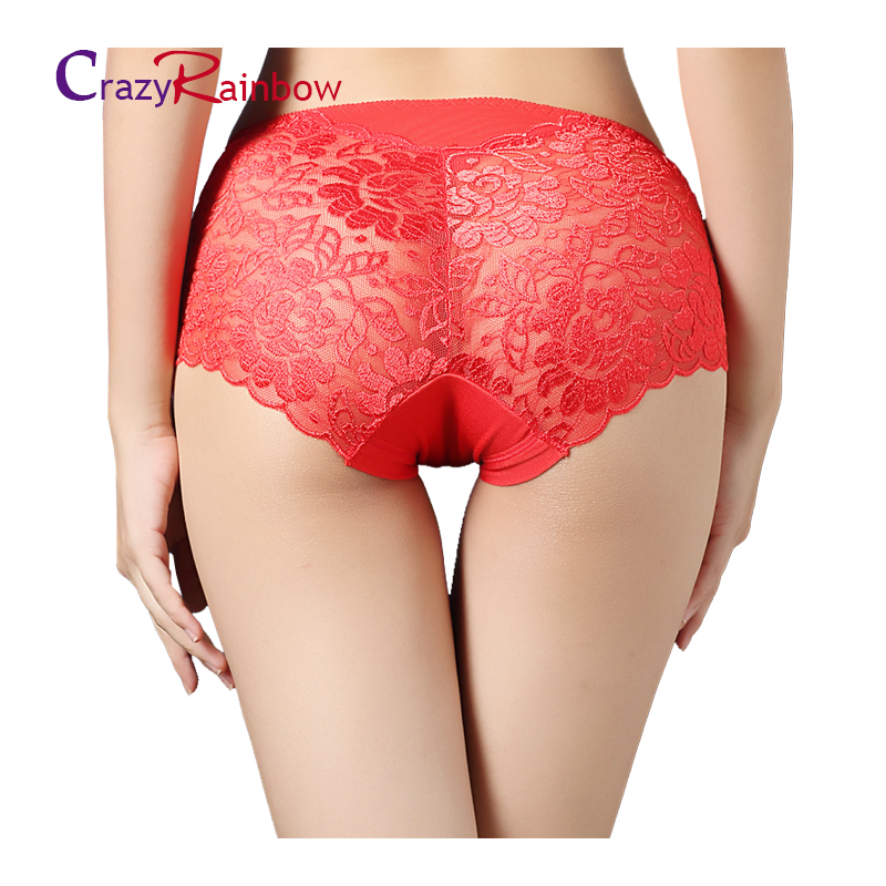 Women underwear briefs sexy women's Panties  full transparent lace seamless..