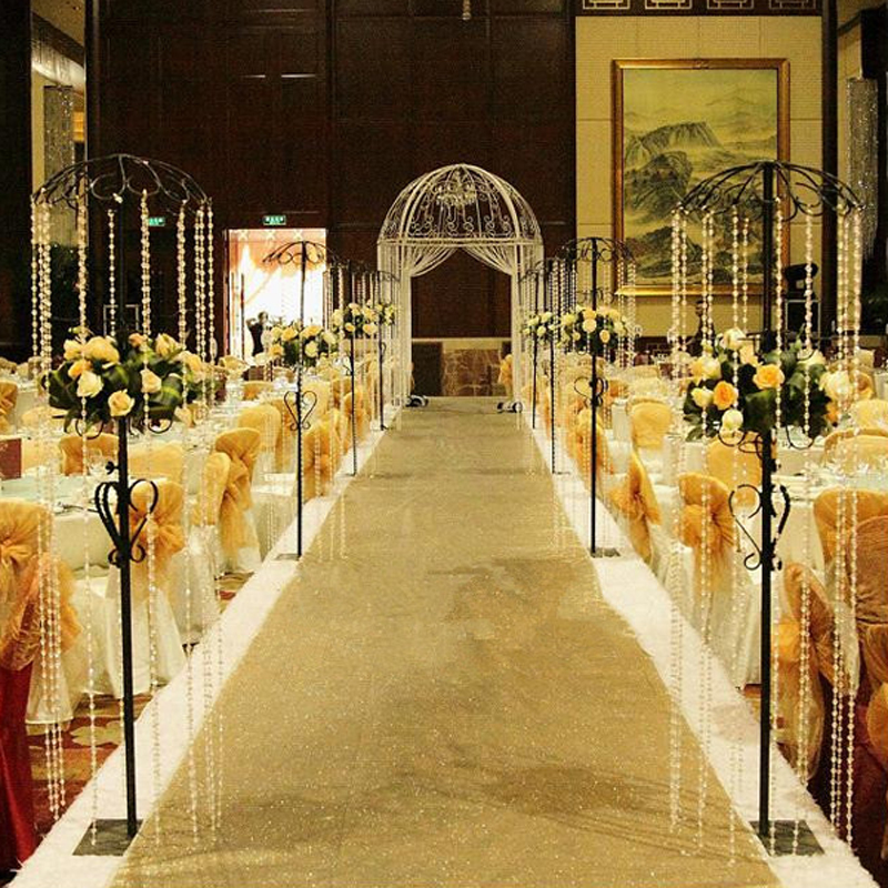 Wedding Party Glitter Carpets Decoration Marriage Shiny Nonwoven Rug Aisle Runner 1mx10m Gold Purple White 10colors 23081 In Carpet From Home Garden On