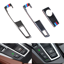 Углеродного волокна Шестерни Цельнокройное Панель оболочка рукоятки рычага переключения передач Frame Накладка для BMW 5 серии GT F07 F10 X3 X4 F25 F26 стайлинга автомобилей