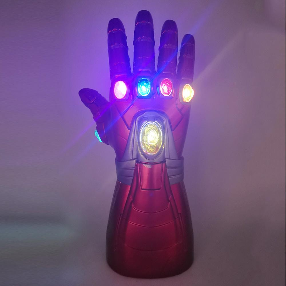LED Iron Man Tony Stark Gauntlet Endgame Cosplay Gloves PVC Sanos Costume Adult Kids  Costume Props Glove