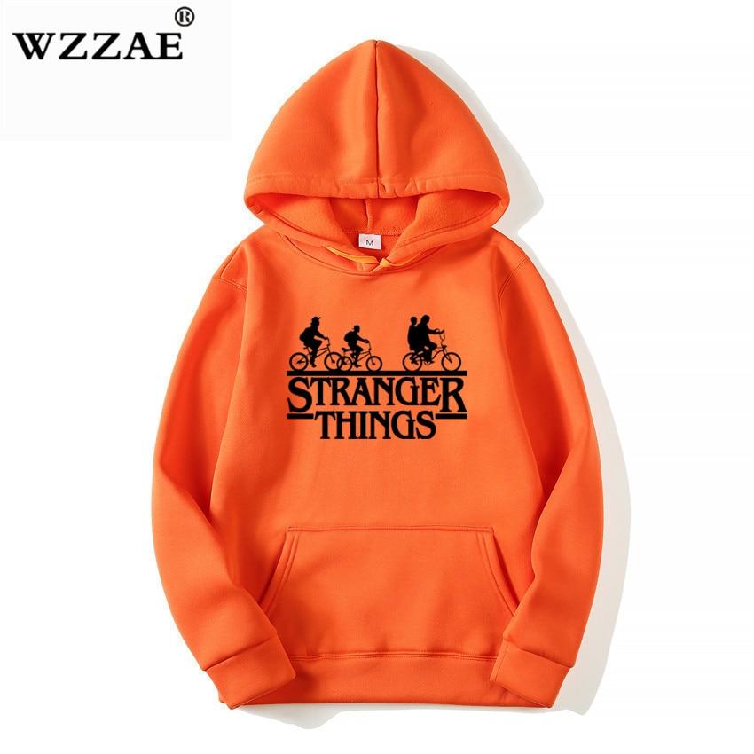 Trendy Faces Stranger Things Hooded Hoodies and Sweatshirts 24