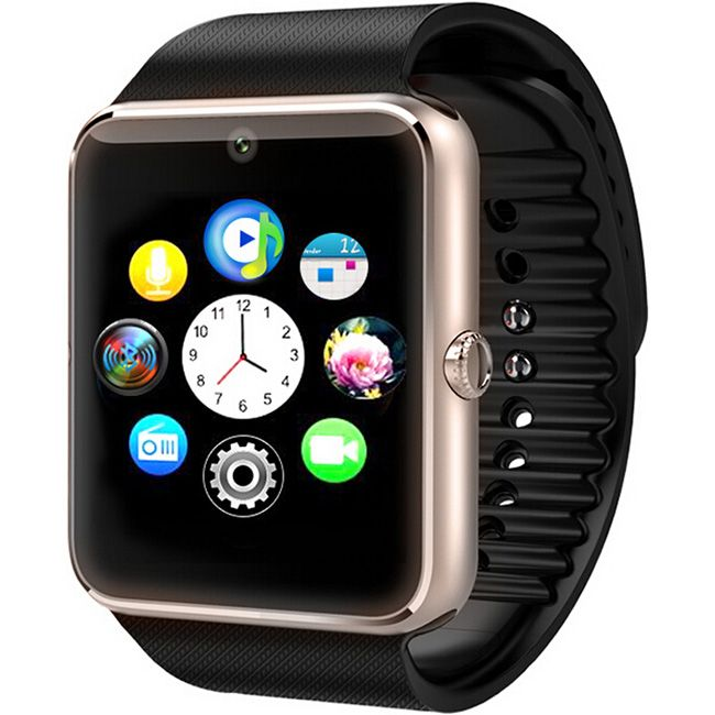GT08 font b Smartwatch b font Phone with MTK6261 CPU Sleep Monitor Anti lost Pedometer Camera