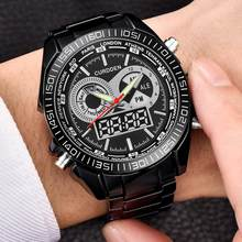Men Military Watch 30m Waterproof Wristwatch LED Quartz Clock Sport Watch Male relogios masculino Dual Movt Sport Watch Men(China)