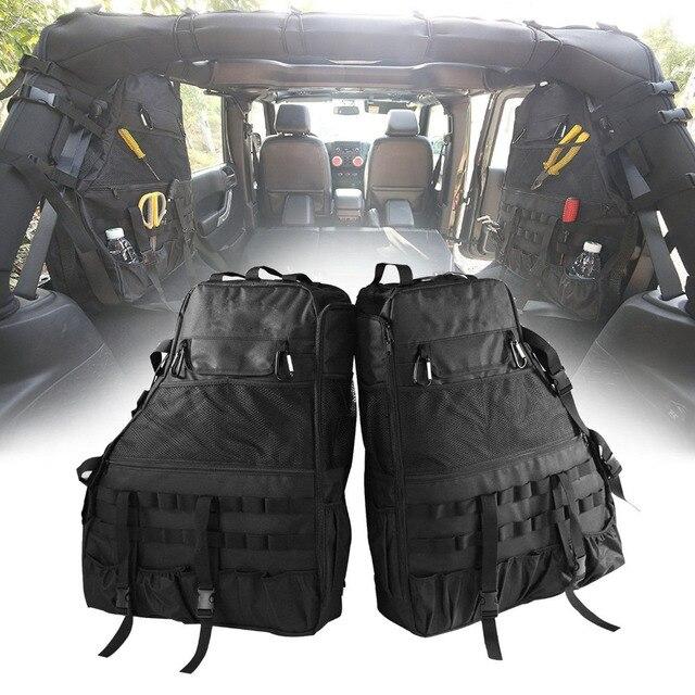 Chuang Qian 2X Roll Bar Strumento Sacchetto di Immagazzinaggio Multi Tasche Bisaccia Organizzatori Cargo per Jeep Wrangler JK TJ LJ e 4 Porta illimitato