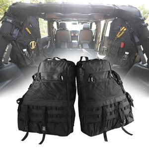Image 1 - Chuang Qian 2X Roll Bar Tool Storage Bag Multi Pockets Saddlebag Organizers Cargo for Jeep Wrangler JK TJ LJ & Unlimited 4 Door