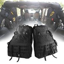 Chuang Qian 2X Roll Bar Werkzeug Lagerung Tasche Multi Taschen Sattel Organisatoren Fracht für Jeep Wrangler JK TJ LJ & unbegrenzte 4 Tür