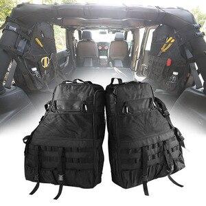 Image 1 - Chuang qian 2X stabilizator poprzeczny przechowywanie narzędzi torba wielu kieszenie Saddlebag organizatorzy Cargo dla Jeep Wrangler JK TJ LJ i nieograniczony 4 drzwi