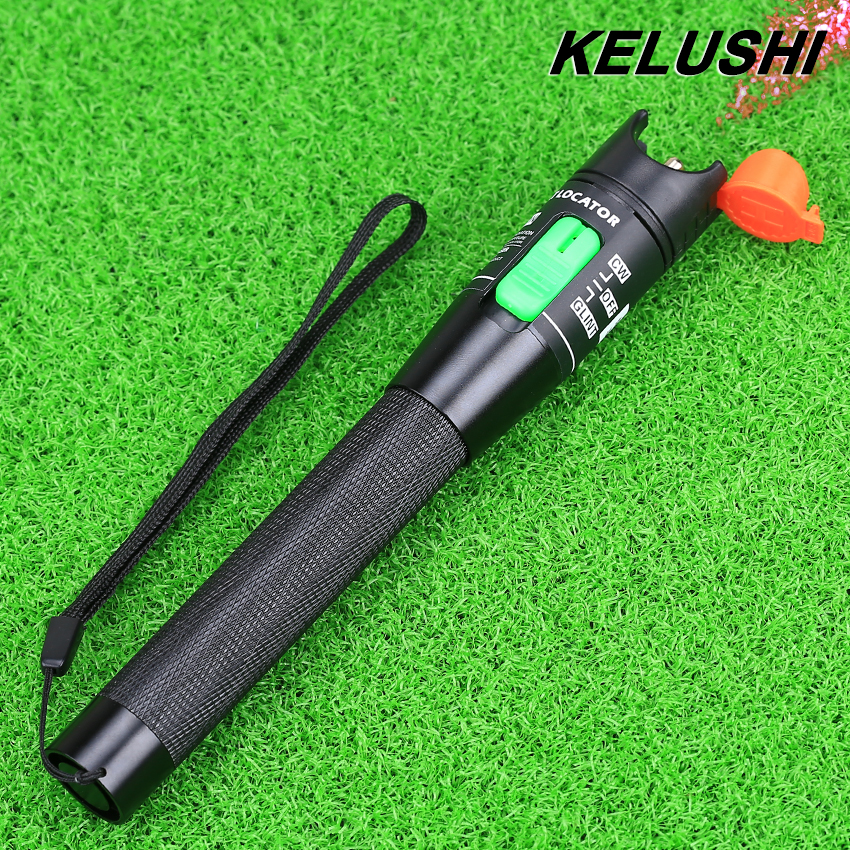 KELUSHI Metal Fiber Optical Cable Tester Red Light Source 30mw Fiber Optic visual Fault Locator 30km