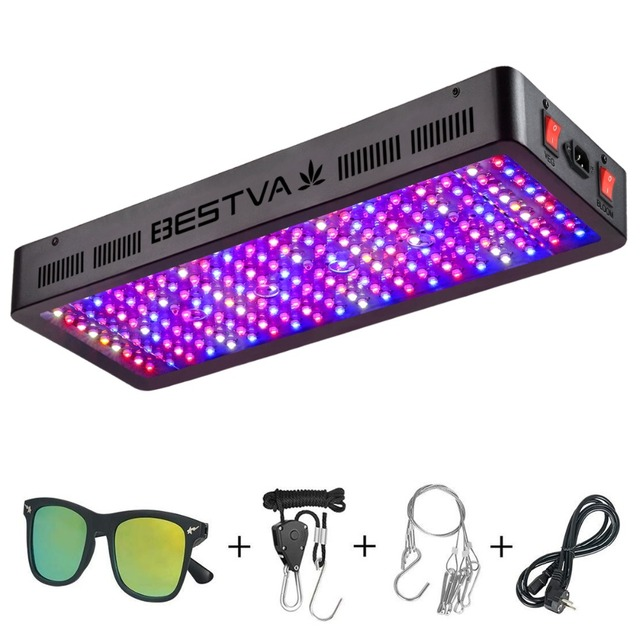 BestVA led grow light full spectrum 2000W dual Switches Veg Bloom modes for Indoor plants greenhouse grow tent