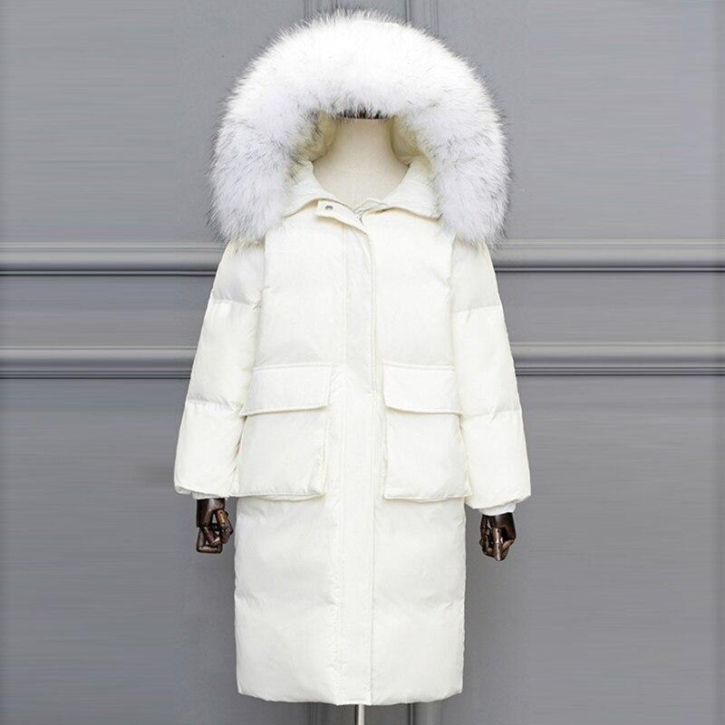 Winter   Down     Coat   2018 new Women With Fur Hood Parkas Ladies White duck   down   jacket Women High Quality Warm Outwear Plus Size