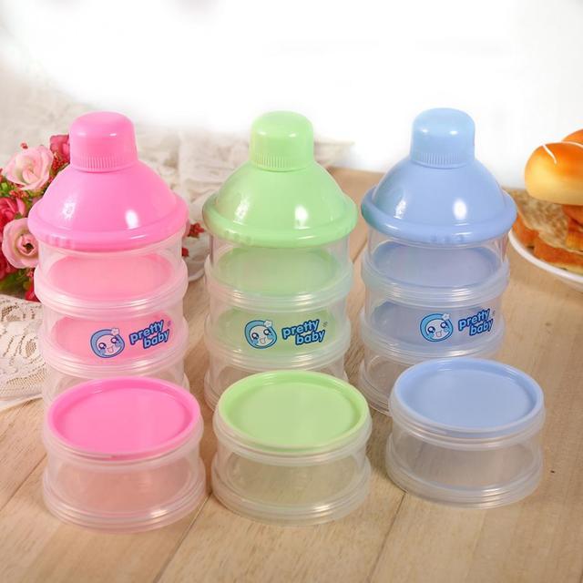 4 Layers Portable Infant Baby Milk Powder Storage Box Children Formula Dispenser Feeding Bottle Case Box Container milk Holder