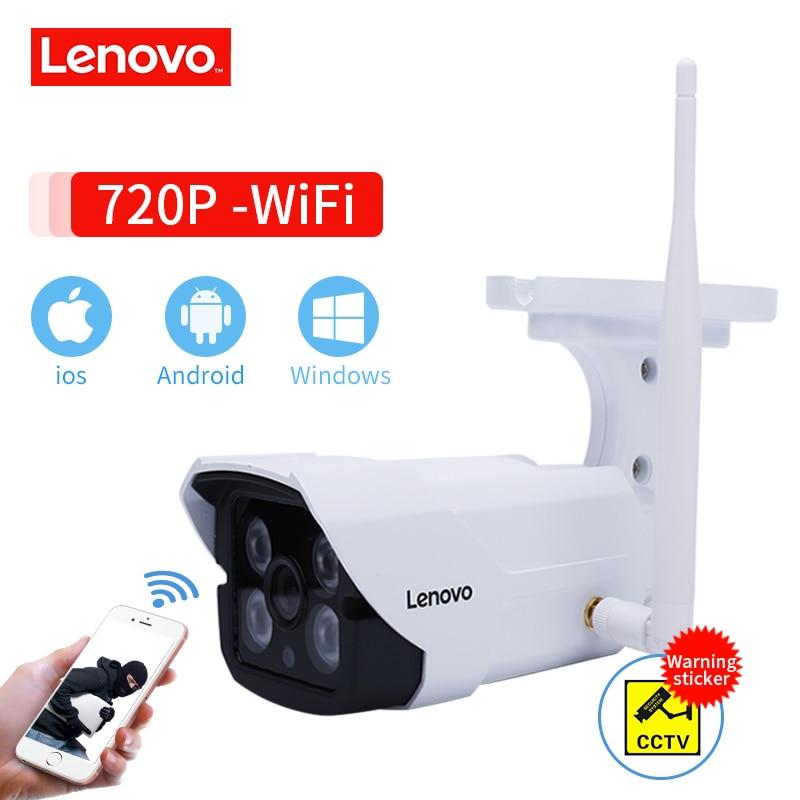 LENOVO Impermeável Ao Ar Livre Câmera IP 720 P Wi-fi Sem Fio Cartão de Memória Da Câmera De Vigilância CCTV Câmera de Visão Noturna