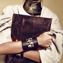D& D панк кожаный браслет с леопардовым принтом стильные модные роскошные унисекс широкие большие браслеты кожаные ювелирные изделия Рождественский подарок