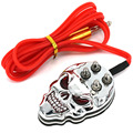 ITATOONew Skeleton Tattoo Foot Pedal Switch For Machine Gun Power Kit Set Supply Silver Glitter With Tattoo Clip Cord Convenient