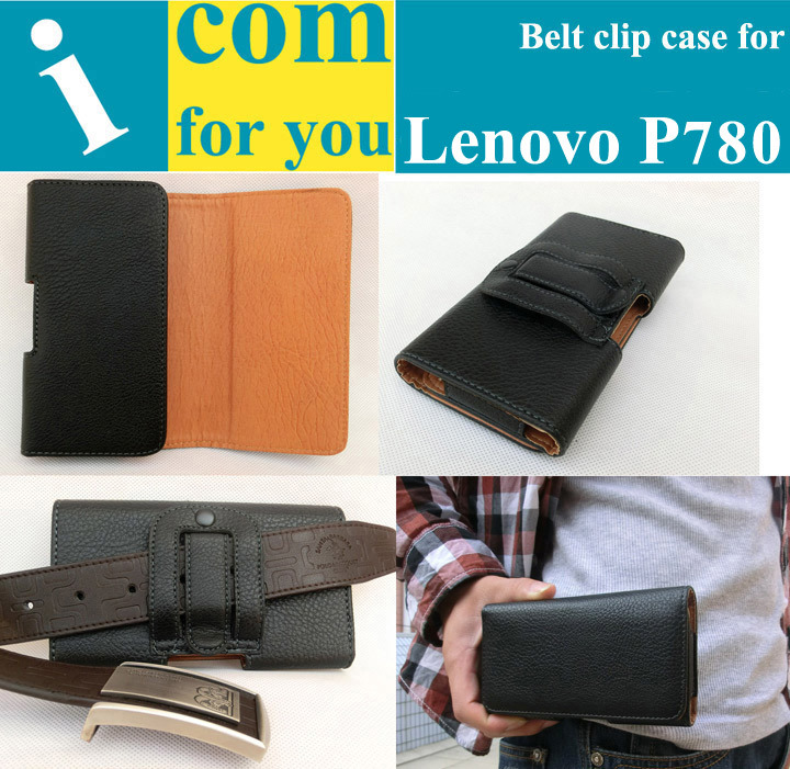 Holster Belt Clip Leather case for Lenovo P780 Used in Mountain climbing Bicycle riding Camping Outdoor activities