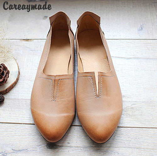 Careaymade-Genuine Leather pure handmade shoes, the retro art mori girl shoes,Women's casual shoes Flats shoes,#1038/ 2 colors huifengazurrcs new pure handmade casual