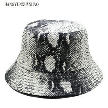 2019 NEW FASHION Unisex Adult Double Sided Wear Snake Grain Fisherman Hat Sunscreen Outdoors Cap hot Free Shipping fashion pop fruits cap unisex harajuku bucket hat adult double sided wear banana fisherman hat sunscreen outdoors cap sun hats
