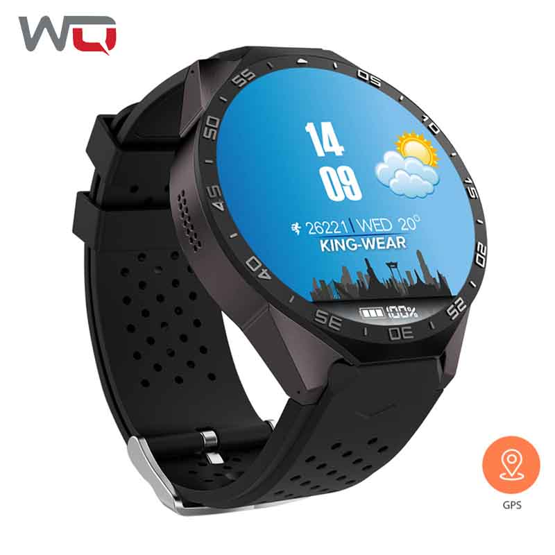 WQ KW88 Smart Watch GPS Android Smart Watch With 3G WIfi Android 5.1 MTK6580 CPU 1.39 inch 2MP Camera Smartwatch PK Amazfit Bip