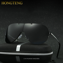 HONGTENG New Arrivals Rimless Luxury Polarized Lens Foldable Driver Sun Glasses Male Eyewears Accessories For Men