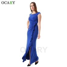 OCARY Brand Quality Fashion Ruffles Dress Elegant Women Boho Maxi Party Dress Casual 2016 Summer Dress Plus Size 2XL Vestidos