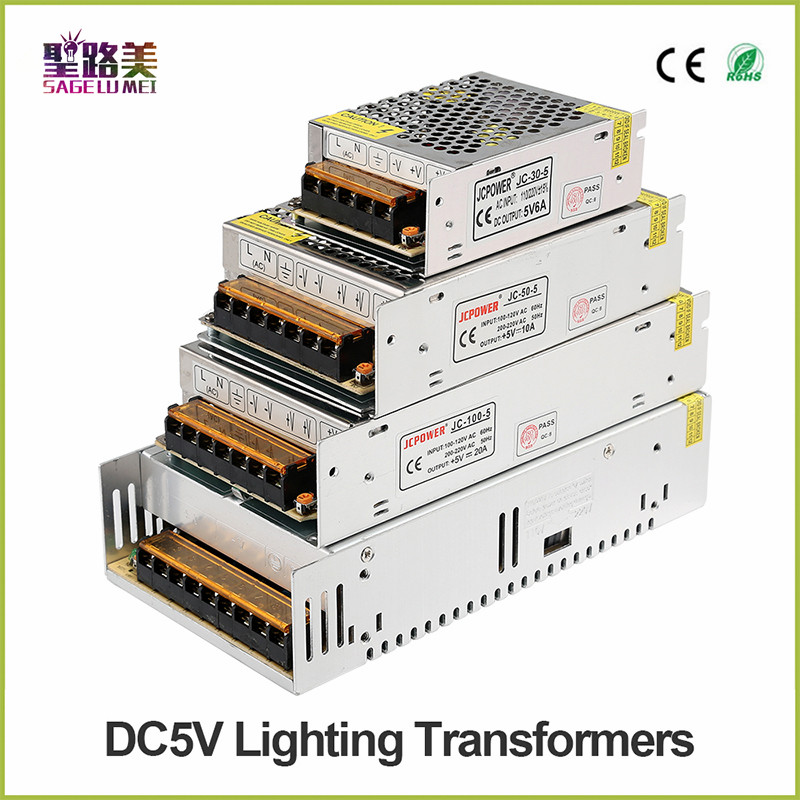 High-quality <font><b>DC5V</b></font> 12V 24V 36V 3V led Strip Power to Adapter AC100-240V 1A 2A 3A 4A 5A 6A 8A 10A 15A 20A 30A 40A 50A Power Supply image